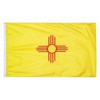 New Mexico State Flag 3x5ft Banner 100D 150x90cm Polyester Messing Tüllen Hohe Qualität Benutzerdefinierte Flagge GWE7357
