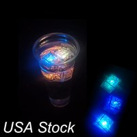 Mini LED Ice Cube Multi Color Changing Flash Lights Crystal Cubes voor Party Wedding Event Bars Chirstmas Halloween Decorations Oemled