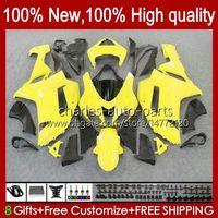 川崎忍者ZX600C ZX-600 ZX 6R 600CC 6 R ZX636 07-08 Bodywork 10NO.7 ZX-636 600 CC ZX6R 07 08 ZX-600 ZX 636 2008 2008 Bodys Kit Light Yellow