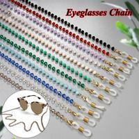 Crystal Beaded Glasses Chain Necklace Eyeglass Lanyard Strap Anti-slip Sunglasses Rope Eyeglasses Eyewear Chains Accessories