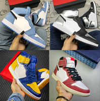 Silver Toe Shoe Skate University Blue Mens Shoe Trophy Room Chicago Top 3 Sneaker LPL 1 Comfort Trainer 1S Finalic Silver Shoe