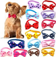 Dog Bow Tie Polka Dot Cartoon Adjustable Multicolor Pet Collar Cat Photo Props Cats Supplies Dog Grooming Accessories