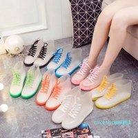 Fashion transparents rains boot flow fashionable water shoes Four seasons student