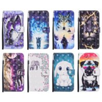 3D Leather Wallet Case For Iphone 13 Pro MAX 2021 12 Mini 11 XR X XS MAX 8 7 6 Plus SE 2020 Lion Wolf Dog Butterfly Elephant Animal Cartoon Card Slot Holder Flip Cover Purse