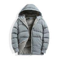Automne et hiver Superior Quality Hood Noir Parkas Hommes Blanc Duck Down Down manteau épaissi loisirs Vêtements de plein air de vêtement de plein air de broderie logo