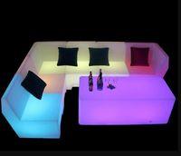 LED 조명 소파 커피 테이블 조합 바 클럽 KTV 룸 카드 좌석 테이블 및 의자 크리 에이 티브 성격 가구 카운터 의자