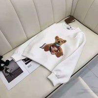 Sudadera con capucha para hombre Suéter Spring Casual Shirthirt Terry con capucha con patrones de oso de manga long Unisex Pareja Pullover letras Curva impresa Tops