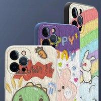 Designer di lusso Cartoon Apple 12 Custodia per cellulare IphonexR Silicone liquido X7 / 8plus Personalizzazione 11Pro All Inclusive Max Case Soft