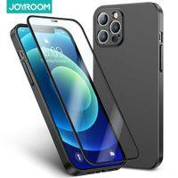 Joyroom Phone Case For i 12 Pro Max 360 Full Body tective Anti-Fall Tempered Glass Cover i 12