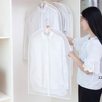 Suit dust cover peva thick translucent clothes over suits clothing storage bag 5 sizes 4 styles HWF10496