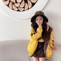 2021 Kostenloser Versand Frühlingsjungen Mantel Kinder doppelt Seiten tragen Mit Kapuze Sommerjacke für Kinder Outwear 2-12Years Kinder Kleidung Tops