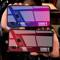 Gradientenglas Telefon Hüllen für Huawei p Smart P20 Pro Lite Mate20 Nova3i Ehre V20 10 8x Magic2 Bunte Cover Shell