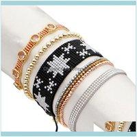 Charm Jewelrycharm Bracelets Star Bracelet For Girls Jewellery Rhinestone Hematite Pulseras Miyuki Womens Jewelry Tassel Adjustable Drop Del