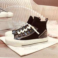 Walk'n 'Sneaker Black Техническая сетка Женщины Люксы Дизайнеры Обувь Резиновая подошва Стрелч Носок Обувь Косой Прогулка кроссовки
