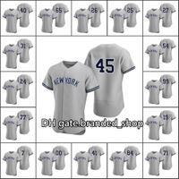 Baseball cousu de New Yorks Ssatus Men # 4 Lou Gehrig 84 Albert Abreu 45 Gerrit Cole 99 Aaron Juge Personnalisé Femmes Jeunesse Grey Authentic Road Jersey