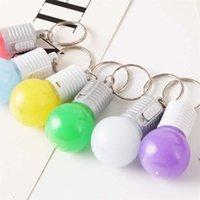 패션 멀티 색상 소년에 대 한 작은 전구 LED 조명 램프 전구 키 체인 선물 소녀 장식 작은 전구 키 링 가방 펜던트 G65V5S2 매달려