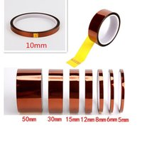 Heat Resistant PI tape 428 Fahrenheit 3MM 5MM 8MM 10mm 20mm(width up to 500mm) 33m* Length can customize Press sublimation Mug case cover 100PCS LOT