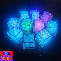 Decorazione Led cubetti di ghiaccio luci illuminazione per vacanze barra veloce lampo lento flash cambiando cristallo cubo light-up 7 colori per la festa romantica regalo di Natale di nozze