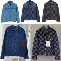 Designers Denim Vestes Mens manuels Hiver Hommes Hommes Vêtements Coton Flower Impression longue manches imprimées Bleu Jacquard