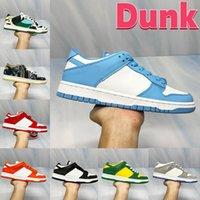 2021 Dunk UN UNC Costa Correndo Tênis Chunky Dunky Dunks Branco Preto Páscoa Universidade Vermelho Sombra Baixo Homens Mulheres Sneakers US 5.5-11