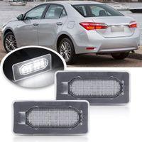 2шк светодиодных номеров лицензии плиты света для Toyota Corolla 2014-2017 Автомобильные задние светодиодные задние задние лампы
