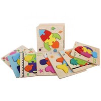 Wooden Jigsaw Puzzle Educational Kids Toys 2021 Popular 3d Toy Wood 15*15 Cm Colorful HXWP002 CN;HUN Huixue Unisex9MJ3