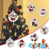Christmas Decorations 20PCS 2021 Ornament Santa Wearing A Face Mask Decorate Tree Year Gift Decor Wedding Party