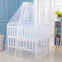 Crib Netting Useful Baby Bed Mosquito Net Mesh Dome Curtain For Toddler Cot Canopy Drop Foldable