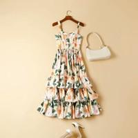 2021 robe de piste printemps robe d'été robe de spaghetti marque de style empire robe robe femme de haute qualité Nishi