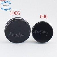 Schwarze Aluminiumdosen mit Schraubkappe, 50g Fester Flüssigkeit Eyeliner, Lippenstiftbehälter, nachfüllbarer leerer Kosmetikverpackungsbehälter