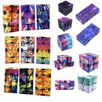 US Stock Stock Metall Infinity Magic Creative Galaxy Fitget Spielzeug Antistress Office Flip Cubic Puzzle Mini Blocks Dekompression Spielzeug CJ11