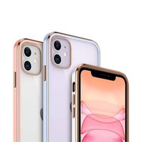 Electroplating Tpu phone cases Lens protectore shockproof cellphonr back case for apple 13 iphone 12 pro ma Ultra thin acrylic soft clear mobile cover acessories