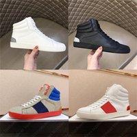 Yüksek Üst Tasarımcı Ayakkabı Lüks Ayakkabı G Klasik Rahat Ayakkabılar Yeşil Kırmızı Şerit G İtalya Deri Chaussures Tasarımcı Eğitmen Kadın ACE Ayakkabı