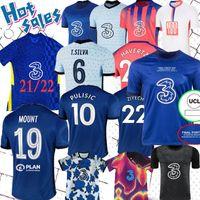 Werner Pulisic Soccer Jerseys Ziyech James 2021 2022 Havertz Futebol Camisa 20 21 22 Abraham Kante Chiilwell Mens Long Jersey Mount Treinando Kit
