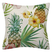 Cushion Decorative Pillow 4Pcs Tropical Leaves Pineapple Pillover Case Summer Decorative Cushion Cover