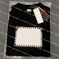 Мужские женские дизайнеры печатные футболки мода роскошь футболки поло
