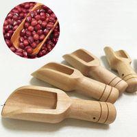 Mini Wooden Scoops Bath Salt Powder Detergent Powder Spoon Candy Laundry Tea Coffee Spoons Eco Friendly Wood Mini Scoops HHD10476