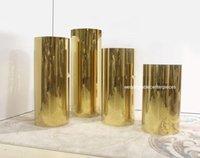 Party Decoration 4 Pçs / Set) Golden Flower Stand para uso do casamento fabricante personalizado exibição plinth dessert tabela exposições
