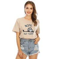 Горячие продажи Creative Nope не сегодня тигр принт с коротким рукавом женская футболка