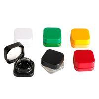 Garrafas de vidro coloridas do frasco de vidro colorido quadrado de 5ml de alta qualidade com tampas resistentes à criança para o recipiente de Dab de óleo grosso