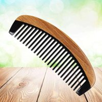 Horn peigne dents larges dents dissuade peigne corne anti-statique long peignes naturels pour les cheveux épais frisés et ondulés réduisent les cheveux b
