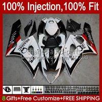 Body Injectievorm voor Suzuki GSXR 1000CC 1000 CC K5 GSXR1000 05 06 Carrosserie 11HC.7 GSXR-1000 2005 2006 Cowling GSX-R1000 GSX R1000 05-06 OEM Fairing Pramac White BLK