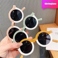 Солнцезащитные очки дизайнер малыш мальчик дети круглые девочки девочки оттенки детей милые очки оптом
