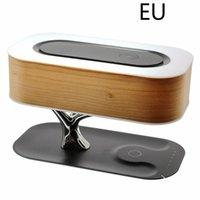Drop Shipping Multifunción LED Lámpara de mesa Altavoz Auto Sleep Teléfono móvil Inalámbrico Cargador Árbol Diseño Decoración del hogar