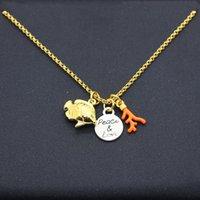 Роскошные ювелирные изделия Ожерелье INS Cool Style Almons Inlaid Мини Рыбные очки Coral Круглый Бренд Multi Coender Ожерелье Женщин Tull Bead Clavicle Chain