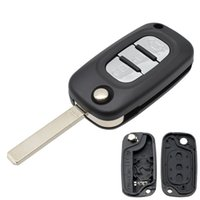 Для Renault Fluence Megane Clio Kangoo Master Modus замена Чехол 3 Кнопка с неразрезанным Blade Car Remote Kear Case