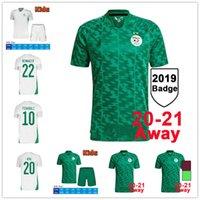 2021 Cezayir Mahrez Futbol Forması Hayranları Oyuncu Sürümü Maillot Argelia Cezayir 20 21 ATAL Feghouli Slimani Brahimi Eve Uzakta Siyah Bennacer Erkekler Çocuklar Futbol Gömlek