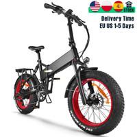 전기 뚱뚱한 자전거 48V 750W Bafang 모터 망 마운틴 자전거 접는 20 인치 스노우 비치 ebike 17.5Ah 리튬 숨겨진 배터리