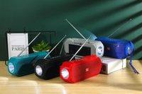 Solar Carregamento TG280 Bluetooth 5.0 Alto-falantes Sem Fio Lanterna FM Rádio Subwoofers Portátil Loudspeaker Handspeaker Chamada de Chamada Perfil Estéreo Bass 1200mAh TF