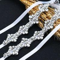 S469 Belt perla con strass Cinture per le donne gioiello Bridal Belt cintura marocchina Abiti da sposa Cinture Accessori da sposa
